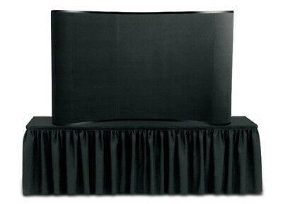 Image Master Displays - 8 Ft Black Tabletop Display with Halogen Lights and Bag