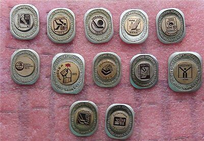 A set of pins Soviet hockey players are Champions of the world and Europe