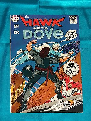 The HAWK & The DOVE # 3, Jan. 1969, By Steve Skeates & GIL KANE, FINE Condition