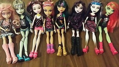 Mattel Used Monster High Dolls Accessories Clothes Doll Lot