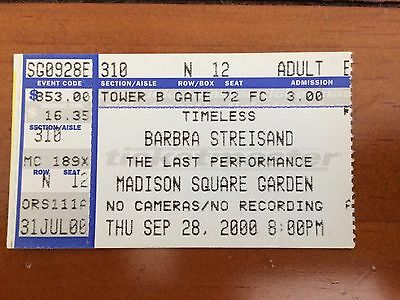 """Barbra Streisand """"The Last Performance """" At MSG in NYC Sept 2000"""