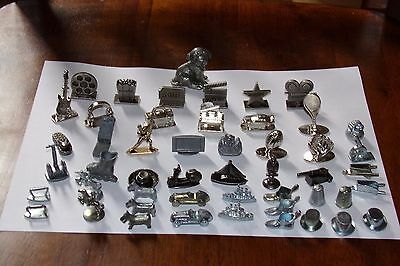 LARGE LOT Monopoly Scene It Game Tokens 50 Pieces Parts replacement movers token