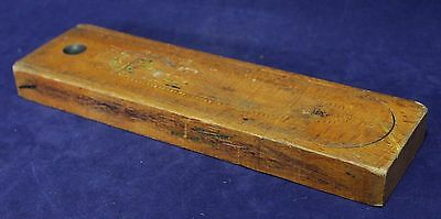 Vintage Wood Slide Top Pencil Box