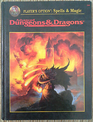 PLAYER'S OPTION: Spells & Magic (1st prt) - 2e Adv Dungeons & Dragons - AD&D TSR
