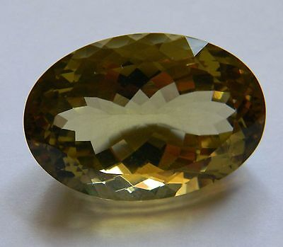 AAA Gorgeous::57.25 Carat::Natural Oval Cut::Golden Prasiolite Gemstone::IF