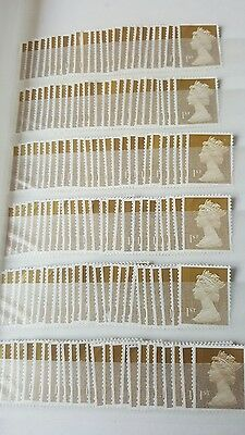 100x1st  class gold security stamps unfranked and off paper no gum