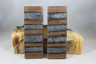 Black Walnut Silver Composite Knife Handle Material Blank Scales Gun Grips (9)