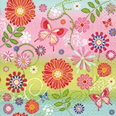 3 Paper Napkins for Decoupage / Tea Parties / Weddings - Flowery Pattern