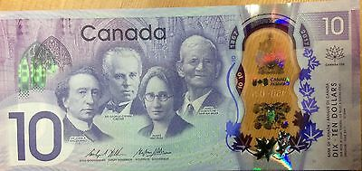 2017 Bank of Canada $10 150 Anniversary Commemorative Polymer Banknote UNC