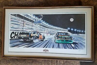 """The Winston-1992"" Signed Gary Hill Nascar Lithograph Allison, Petty, Earnhardt"