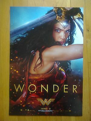 WONDER WOMAN - WONDER 2017 11.5x17 NEW PROMO MOVIE POSTER with Gal Gadot