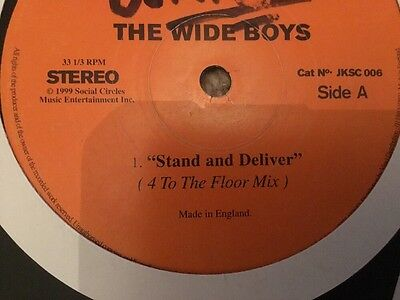 """Listen- The Wide Boys - Stand & Deliver - 4/4 Mix & 2 Step -Uk Garage Record-12"""""""