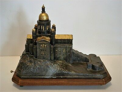 Rare French Souvenir Music Box St. Joseph's Oratory Canada Depose France 1926
