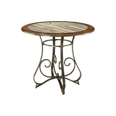 AshleyD314-15B Hopstand Round Dining Room Table Base Brown
