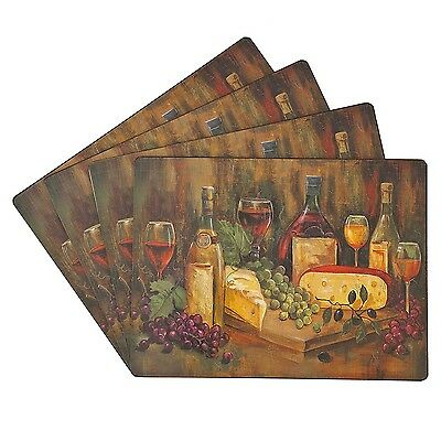 Benson Mills Cork Placemats Cabernet Set of 4 - Brand New +  Free Shipping