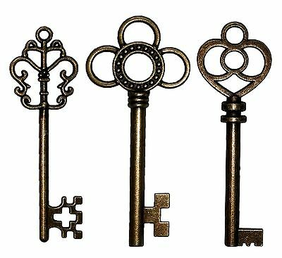 20PCS Antique Large Collection Skeleton Keys Cop... - Brand New +  Free Shipping