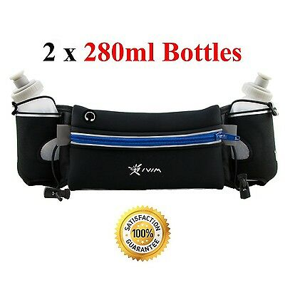 Hydration Belt for Runners with Water Bottles (2... - Brand New +  Free Shipping