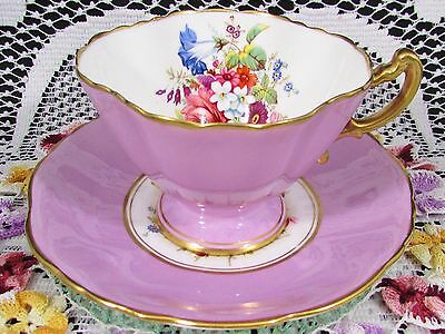 Hammersley Lavender Howard Floral Spray Tea Cup And Saucer