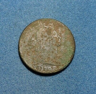 1798 Draped Bust Large Cent VG Very Good Condition Style 2 1c copper