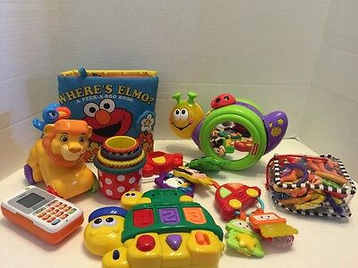 Toddler Baby Toy Lot Where's Elmo Cup Stackers Fisher Price Sesame Street  9 Pcs
