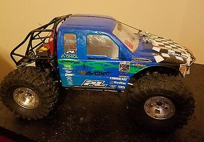 scx10 truggy smf cage alum front axle mip winch 4x4 great truck