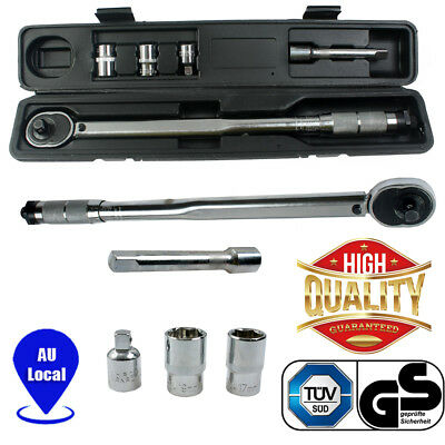 """Adjustable 1/2"""" and 3/8"""" Dual Drive Micrometer Torque Ratchet Wrench Hand Tools"""