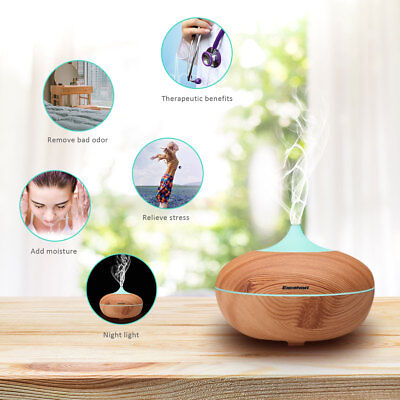 Essential Oil Mist Ultrasonic Humidifier Aroma Aromatherapy Diffuser Purifier AU