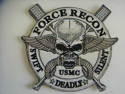 "1 pc New ""Large"" size USMC Force Recon embroidered  patch hook back"