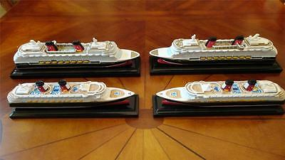 4 Disney Cruise Line DCL Scale Model Ship Replica FANTASY DREAM MAGIC WONDER
