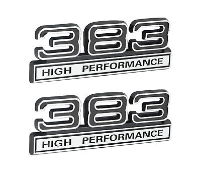 62 liter 383 engine aluminum emblems badge in silver black 45 383 high performance 62l engine emblems badges in chrome black 4 long publicscrutiny Image collections