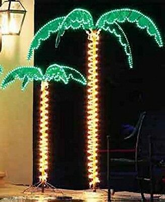 7 Foot High 'SUPER BRIGHT' LED Lighted Tropical Palm Tree - 5 Times Brighter
