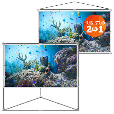 "JaeilPLM Flicker-free Portable Outdoor Projection Projector Screen Kit 100"" Inch"