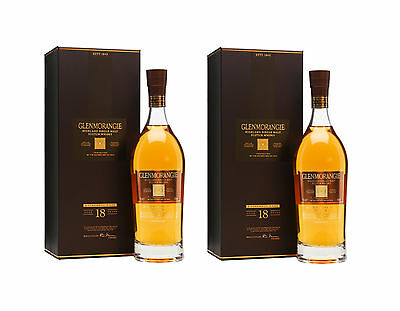 Glenmorangie 18 Year Old Extremely Rare Single Malt Scotch Whisky 2 x 700ml