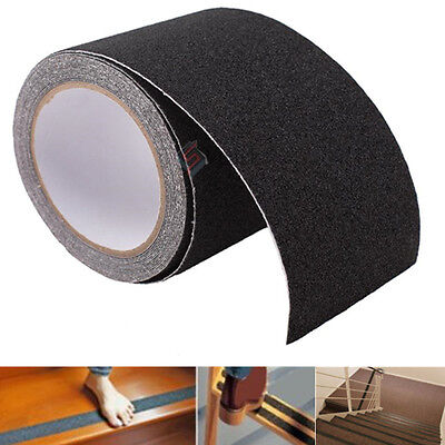 4''X15' BLACK Roll Safety Non Skid Tape Anti Slip Tape Sticker Grip Safe Grit US