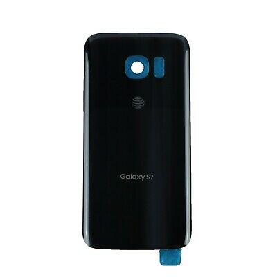 Black Battery Cover Rear Back Door Glass Housing For Samsung Galaxy S7 G930 AT&T