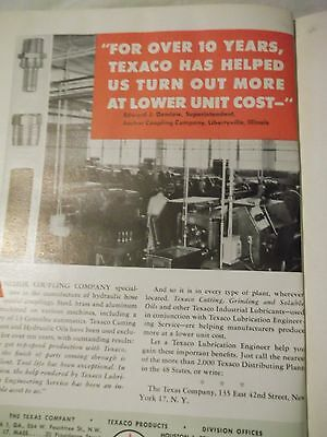 The Texas Company technical publication bound vol 39 1953 Lubrication Texaco
