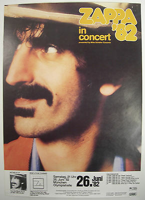 Frank Zappa Concert Tour Poster 1982 You Are What You Is Munich