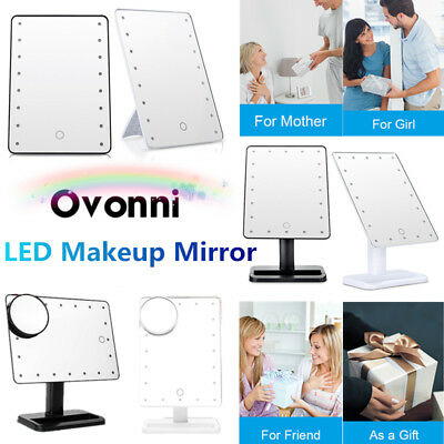 Portable LED Vanity Makeup Mirror Touch Screen 10X Magnifying Cosmetic Mirror AU