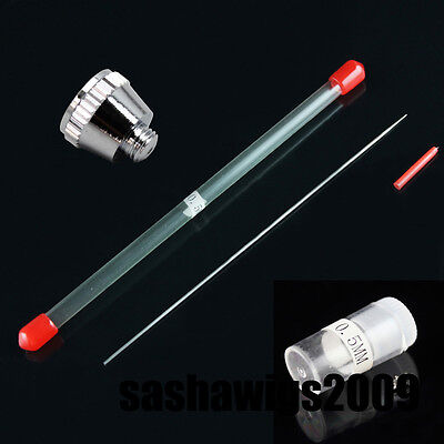 OPHIR Airbrush 0.3mm 0.4mm 0.5mm  Needle Airbrush Nozzle Replacement Set f  Air