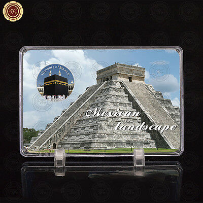 WR Wonders of Mexico Kaaba Architecture Mexican Silver Coin Collection + Display