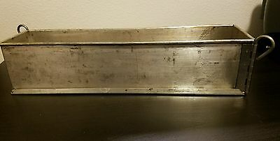Gobel 13 3/4 Inch Long Rectangular Meat Pie Mold w/ Hinges
