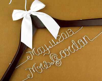 Personalized Wedding Hanger Custom Brides Name &Date Bridal Dress Hanger