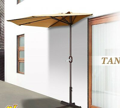 Superieur 10u0027 Half Patio Umbrella Wall Balcony Sunshade Market Yard Garden With Stand