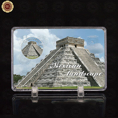 WR Wonders of Mexico Chichen Itza World Silver Coins Set Collection /w Display