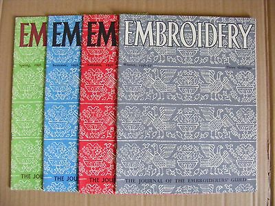 Embroidery Guild Magazines Set Of 4 1956