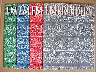 Embroidery Guild Magazines Set Of 4 1957