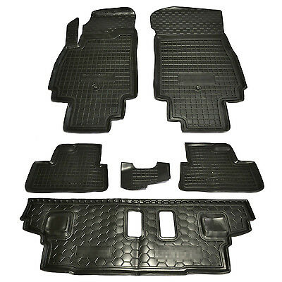Rubber Carmats for Chevrolet Orlando 7seat All Weather Floor Mats Fully Tailored