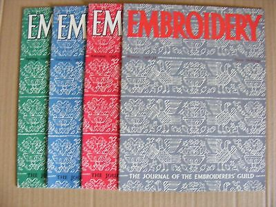 Embroidery Guild Magazines Set Of 4 1958