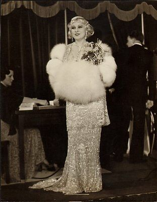 MAE WEST FABULOUS vintage 1932 ORIGINAL CANDID HOLLYWOOD GLAMOUR PREMIERE Photo