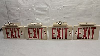 Commercial Lighted Metal Exit sign lot of 2
